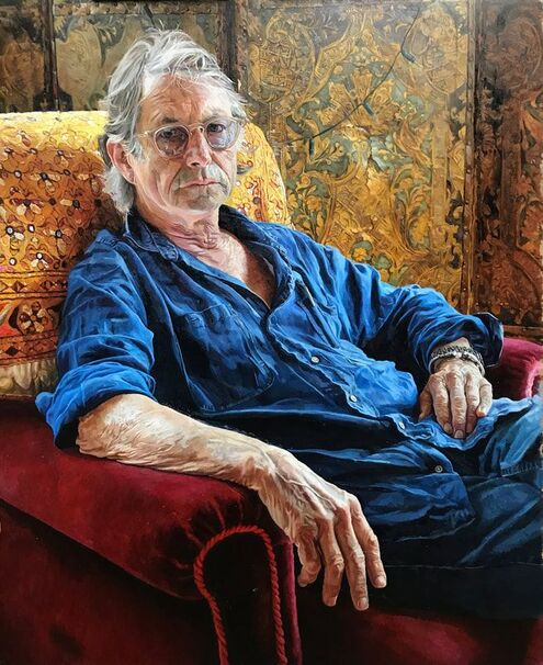 Bruce Robinson, director, Withnail & I, portrait by Alastair Adams