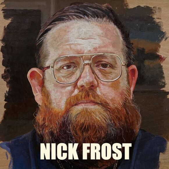 Nick Frost, actor, portrait by Alastair Adams